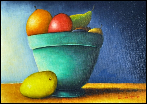 The Gallery For Simple Fruit Bowl Painting