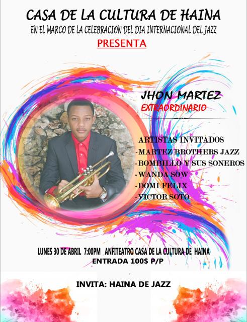 Concierto de Jazz: Jhon Martez Extraordinario