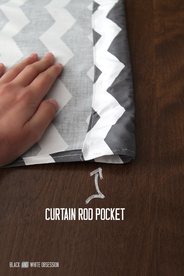 Quick and Easy 15 Minute Curtains: Sew Pocket Seams | www.blackandwhiteobsession.com