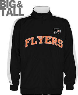 Big and Tall Philadelphia Flyers Track Jacket