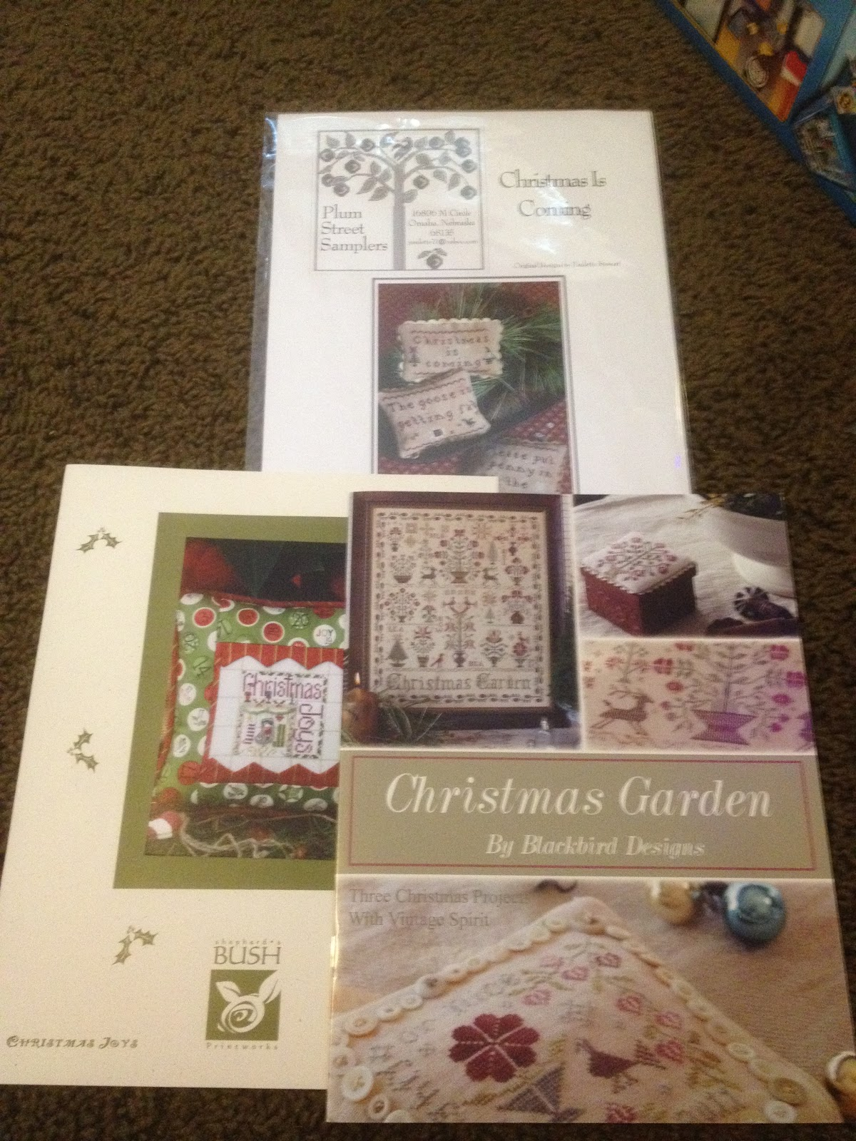 Fabric and thread and needles and patterns oh my merry for Christmas garden blackbird designs