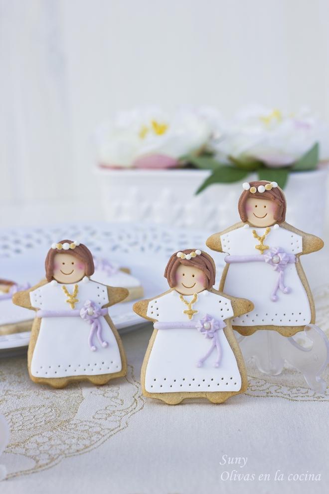 Galletas de canela decoradas para la comunión de Paula