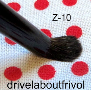 brush comparison Chikuhodo Z-10, Suqqu Eyeshadow S