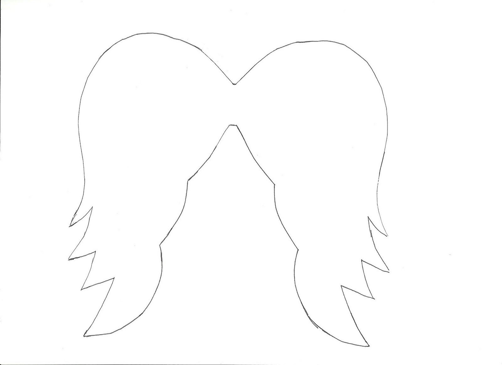 angel wing cut out template - photo #6