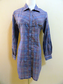 Luna Blue Plaid Shirt