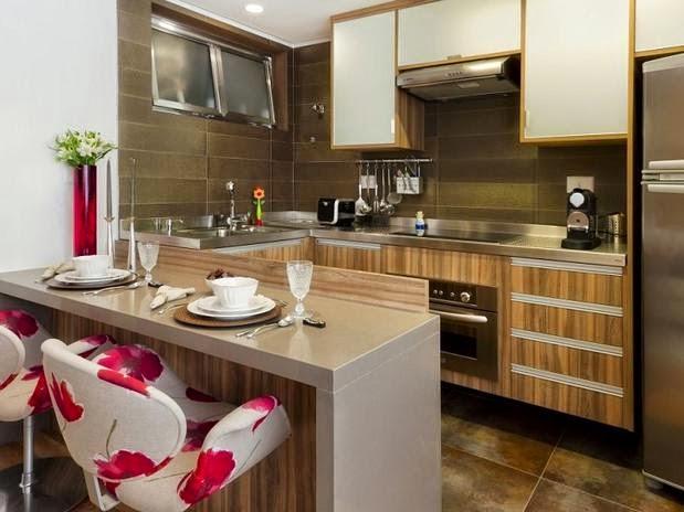 Sala De Estar Linda E Barata ~ As cozinhas americanas são muito práticas e modernas, a vantagem é