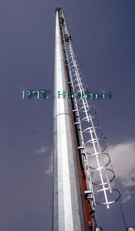 tiang penangkal petir dan tiang antena deltapole tiang