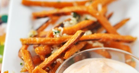 ... Sweet Potato French Fries with Parmesan & Cilantro and Sriracha Sour