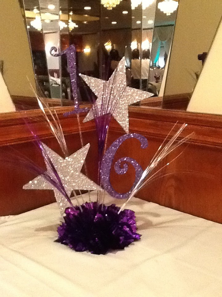 A balloon creation inc sweet 16 centerpiece for Balloon decoration ideas for sweet 16