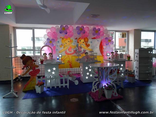 Bailarinas - Mesa provençal decorada com o tema Bailarinas para festa de aniversário infantil feminino (Barra da Tijuca)
