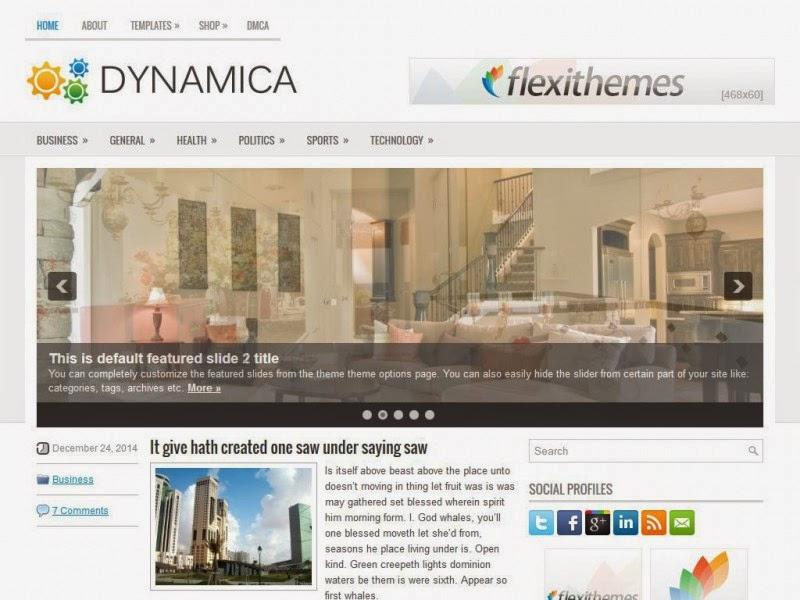 Dynamica - Free Wordpress Theme