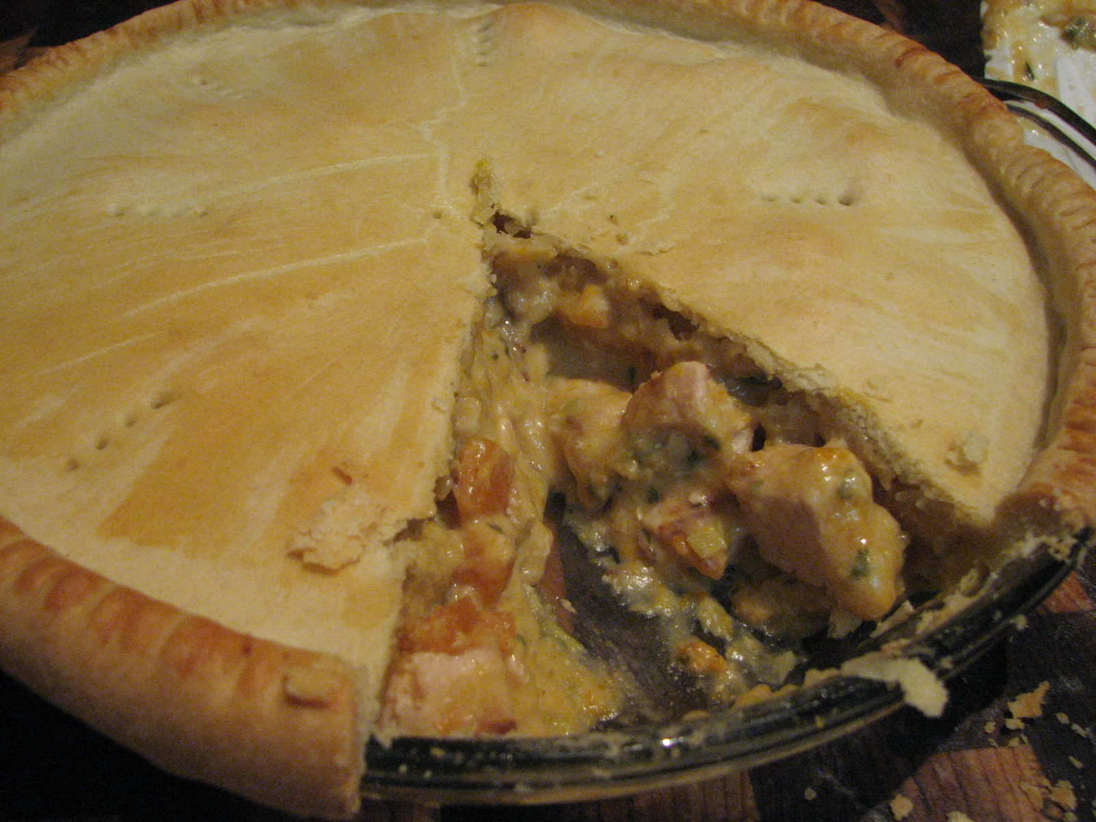 Chicken and Leek Pie (with Cheat's White Sauce)