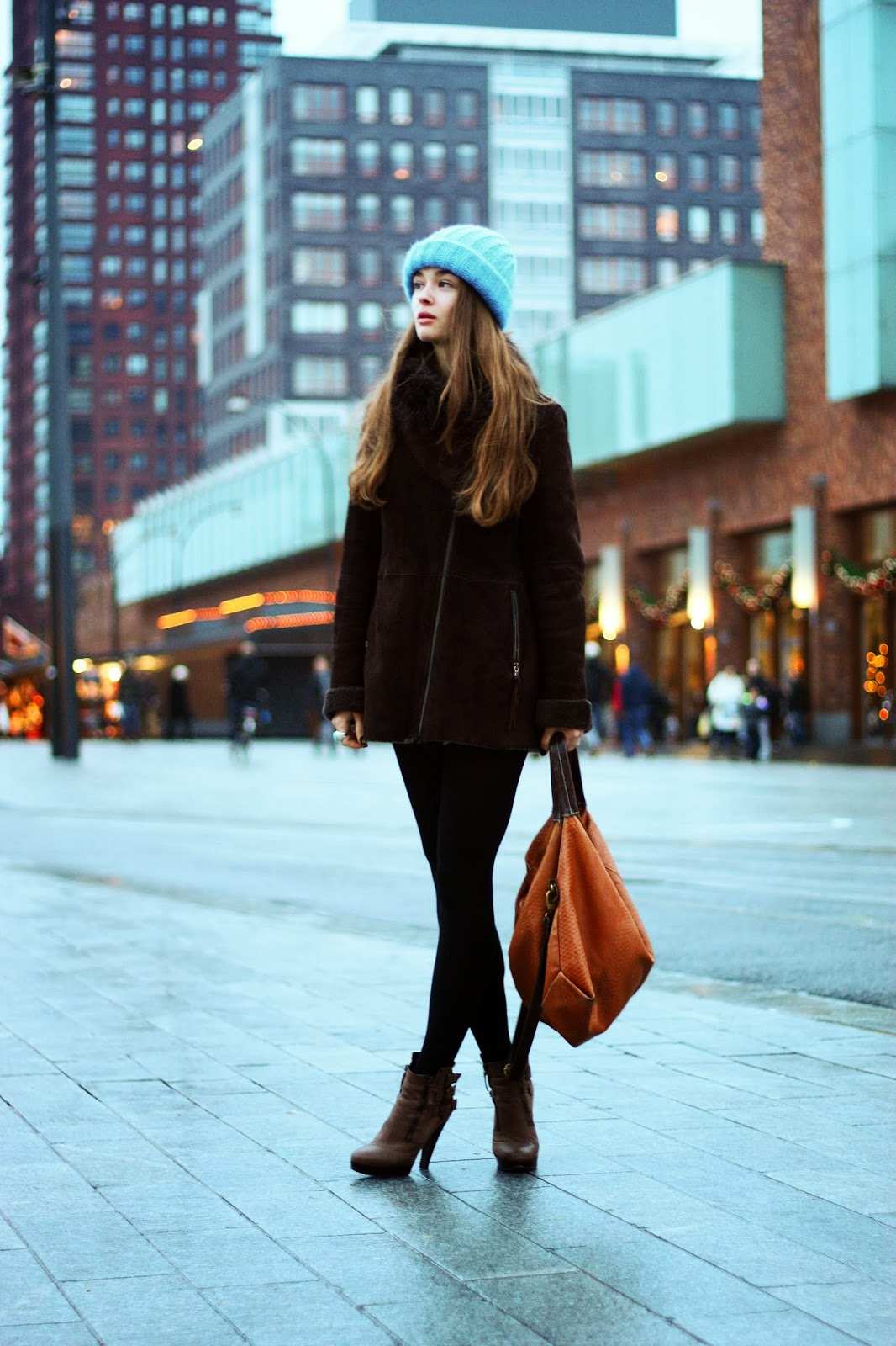 brown zara coat