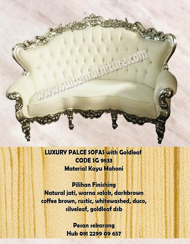 Luxury Palce Sofa Ukir Mewah Kursi Tamu Mebel Jepara