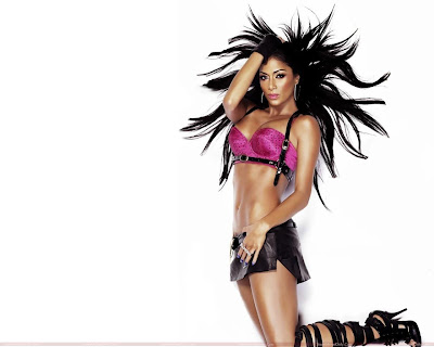 Nicole Scherzinger Wallpaper in pink