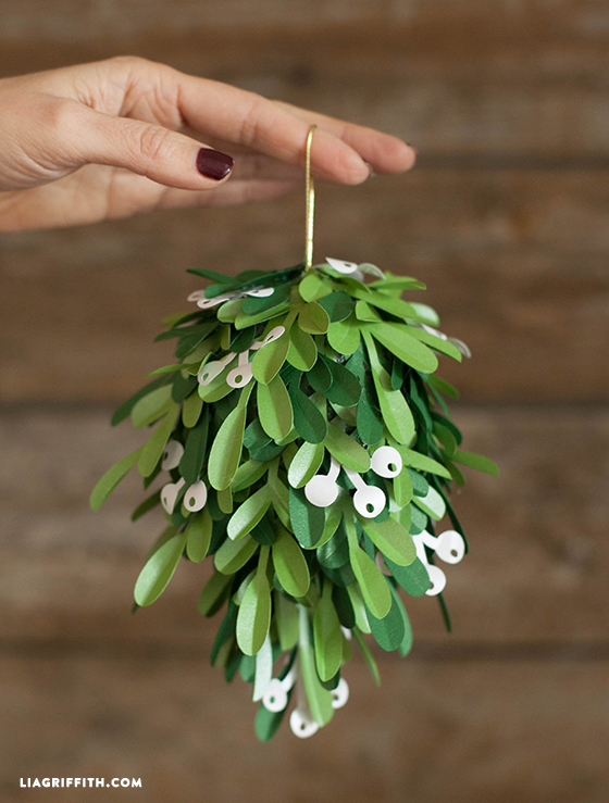 DIY Mistletoe Kissing Ball from Lia Griffith