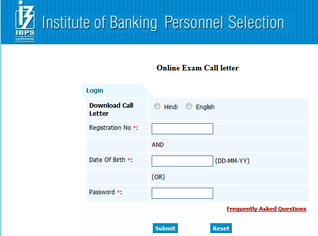 IBPS Specialist Officer Admit Card 2015, IBPS CWE IV SO Common Written ...