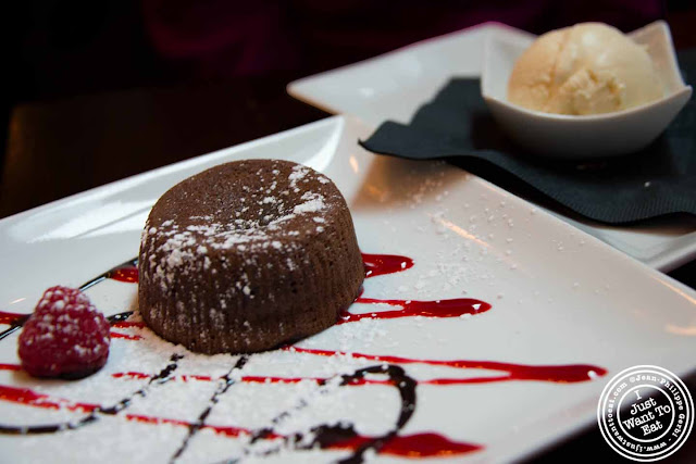 Image of Chocolate molten cake at Ayza Wine and Chocolate Bar in NYC, New York