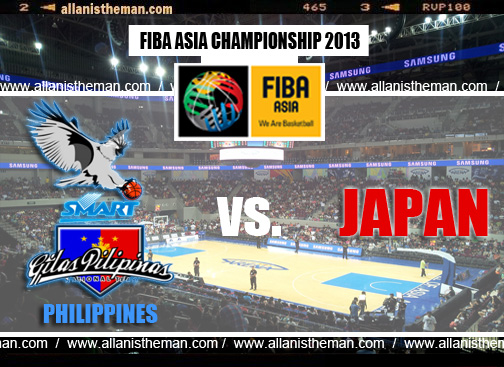 FIBA Asia 2013 Live Stream: Gilas Philippines vs Japan