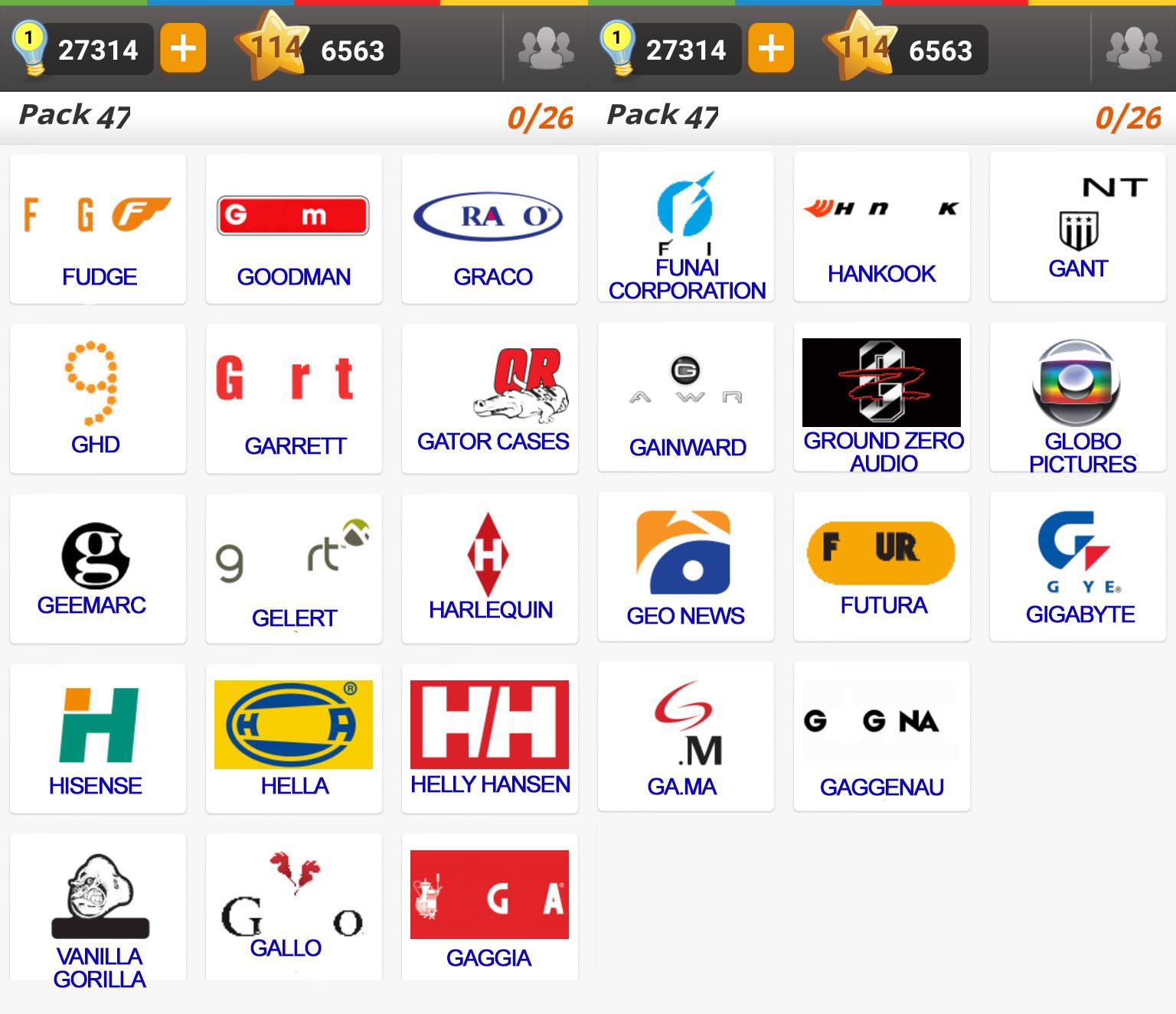 Bien connu Logo Game: Guess the Brand [Regular] Pack 47 ~ Doors Geek AF71