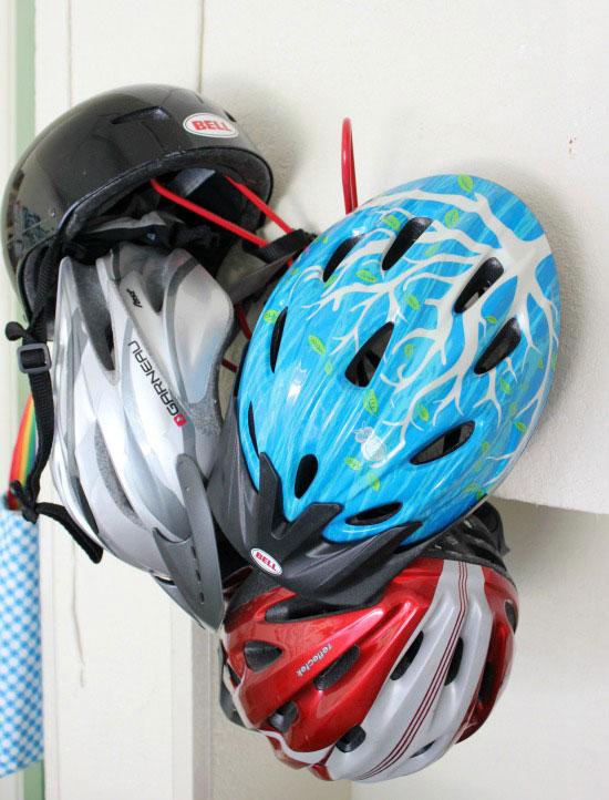 Bicycle Helmet Storage Ideas
