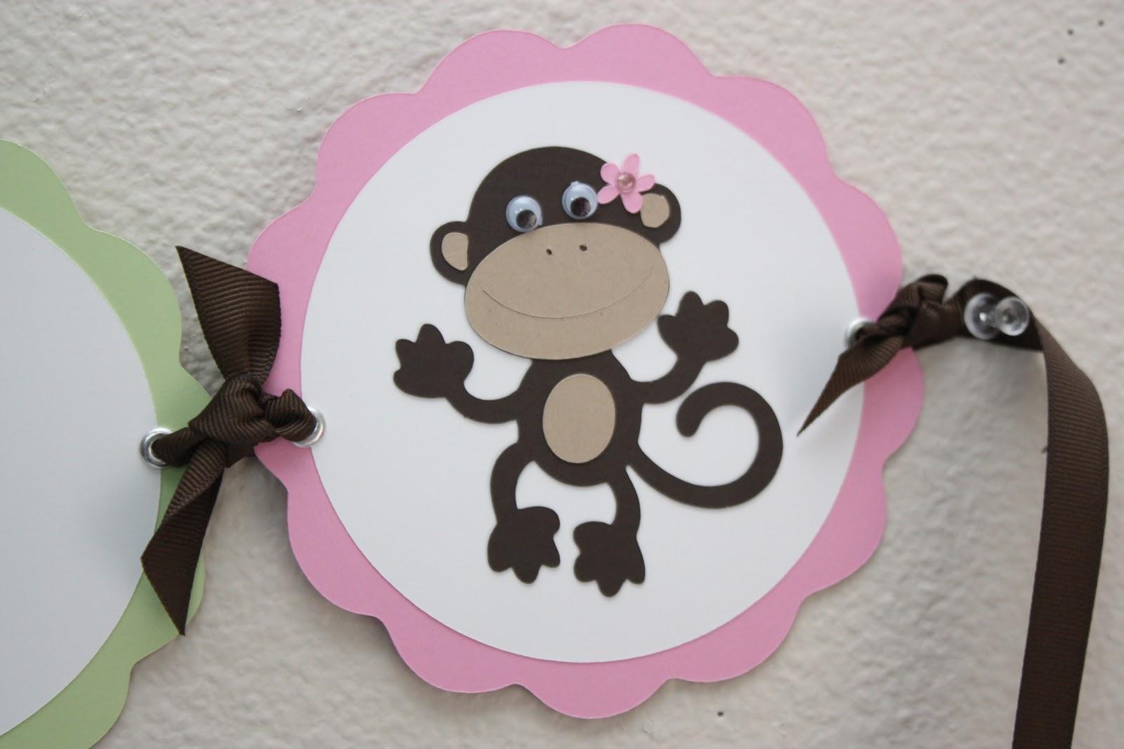 5m creations baby girl monkey baby shower