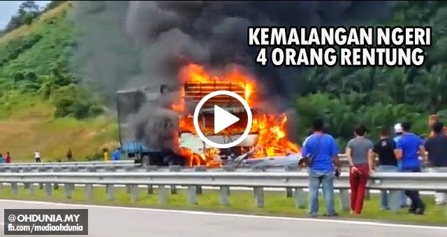 Video: 4 Rentung termasuk 2 Kanak-kanak dalam Kemalangan ngeri