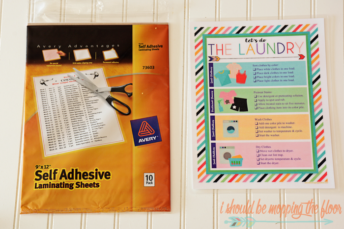 Free Printable Laundry Chart & Instructions   A great way to teach kids to start doing laundry!