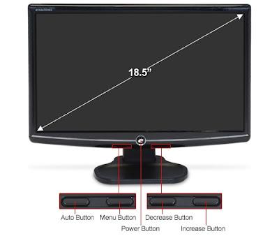 new eMachine E182HHBBM Class Widescreen LCD Monitor
