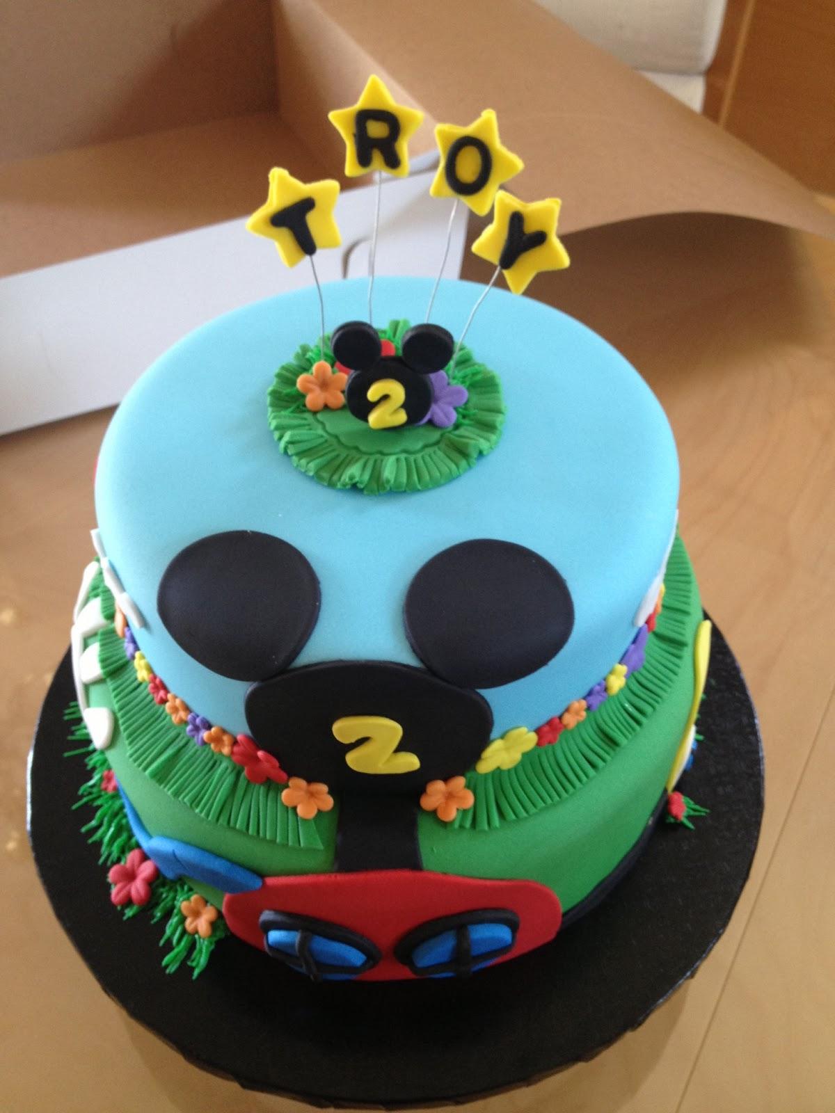 Love To Bake Mickey Mouse Luau Birthday Cake