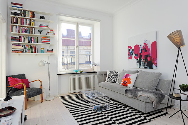 Un piso peque o moderno y con color boho deco chic - Piso pequeno moderno ...