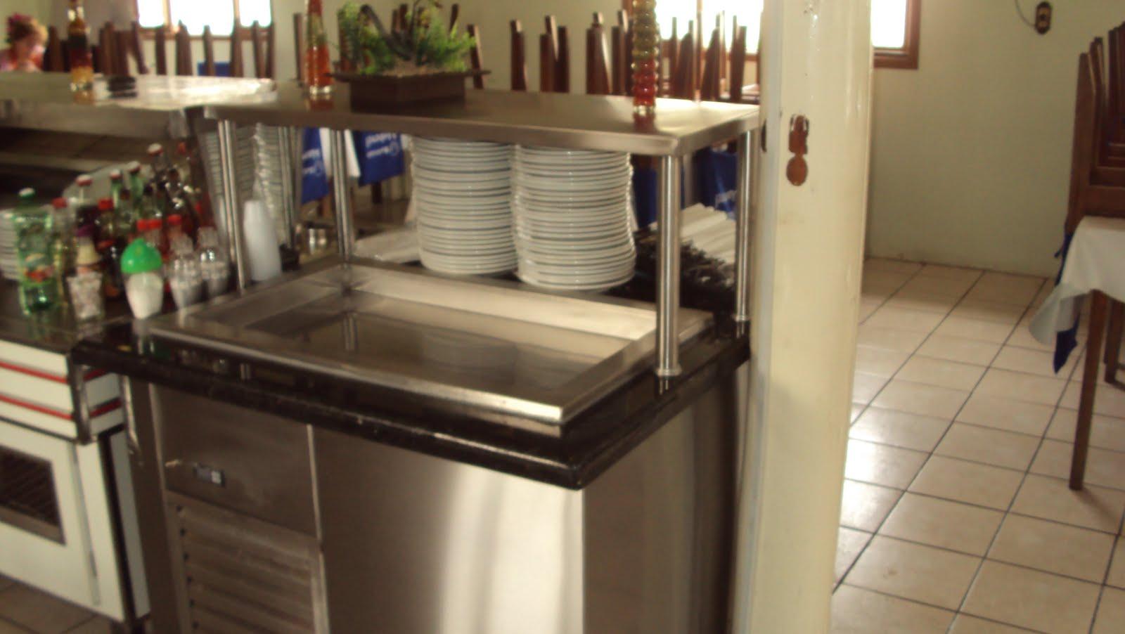 Ideal Cozinhas Industriais: Balcão Refrigerado para Sobremesa #91773A 1600 902