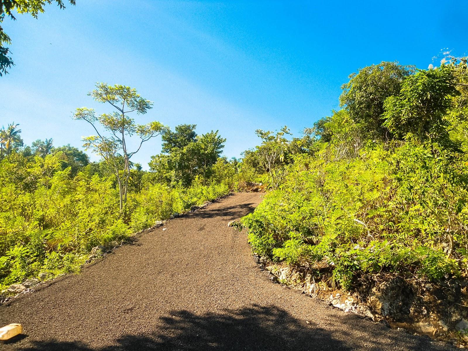 Akses Jalan Aspal Ke lokasi Tanah Gamat Nusa Penida