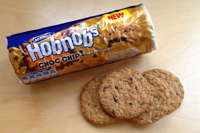 Vegan Hobnob Choc Chip Biscuits