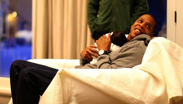 Jay Z with Baby Ivy Blue Carter pictures