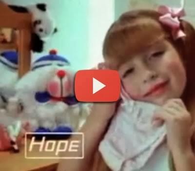 Propaganda das calcinhas Hope para crianças nos anos 80