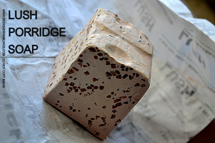 Lush Porridge Gentle Soap Dry Sensitive Skincare Indian Beauty Makeup Blog Reviews Ingredients Oats
