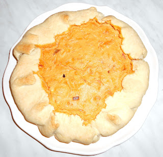 Torta salata di Zucca, Speck e Philadelphia
