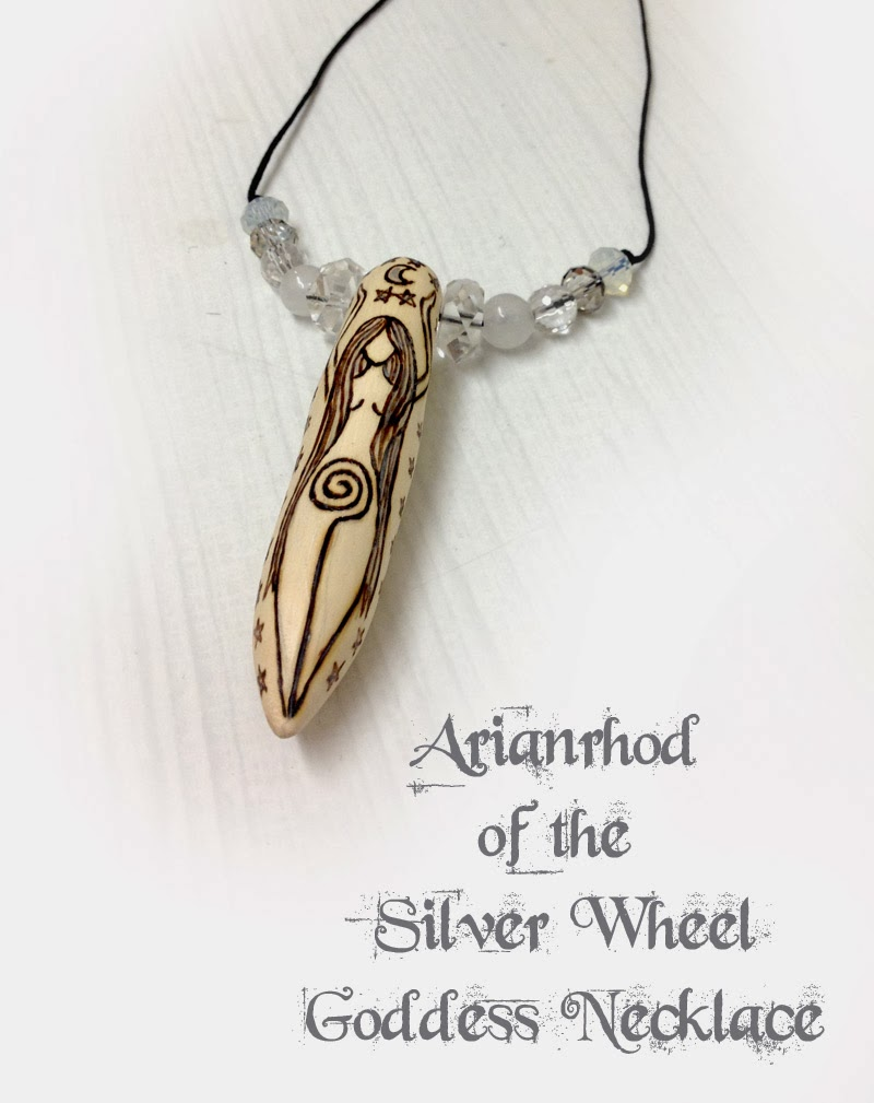 Arianrhod of the Silver Wheel Goddess Necklace from MoonsCrafts
