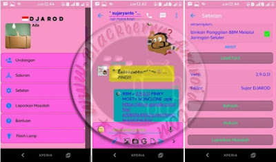 Free BBM Mod Pinky Moety Full Transparent Terbaru v2.9.0.51 Apk