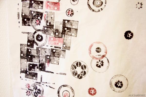 aliciasivert, alicia sivertsson, levande verkstad, textile, fabric, print, pyssel, konst, handarbete, hantverk, skapa, textil, tygtryck, tryck, tyg, skrot, metall, mutter, skruv, knapp