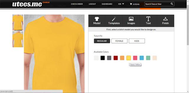 utees.me, kaos custom, print tshirt