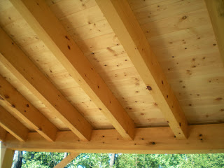 john Huisman, pine ceiling paneling, tomber frame