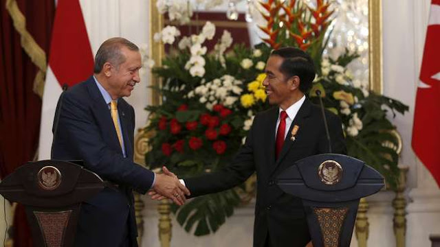 Kunjungan Ke Indonesia, Erdogan - Jokowi Bahas Isu Terorisme