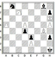 Estudio artístico de ajedrez de A. P. Kazantzev, 3ª mención, Nadareishvilli Molodost Gruzzi, 1983.