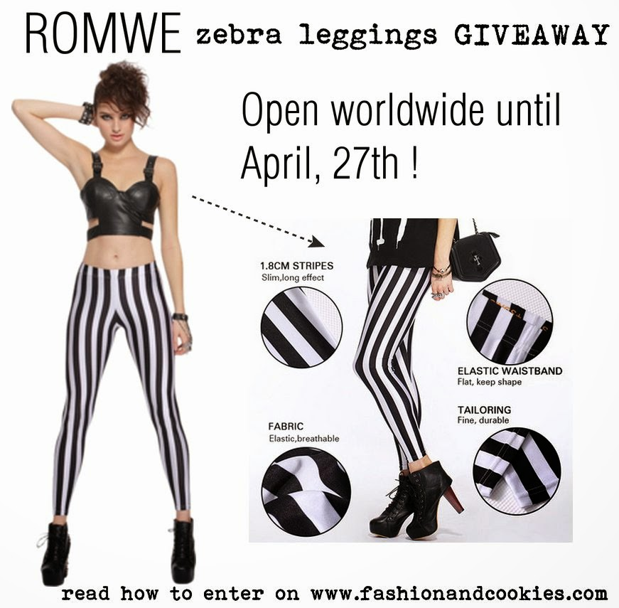 Romwe zebra leggings Giveaway on Fashion and Cookies