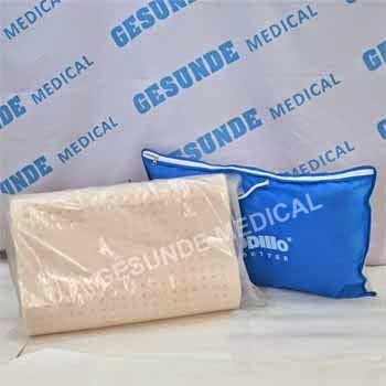 beli bantal dunlopillo sintetis latex bergelombang