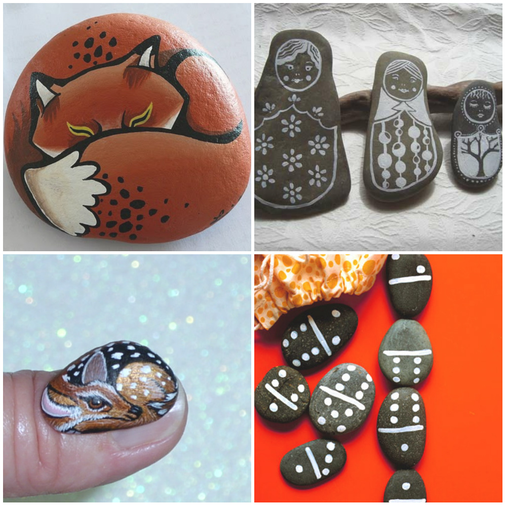 Как раскрасить камни своими руками 928