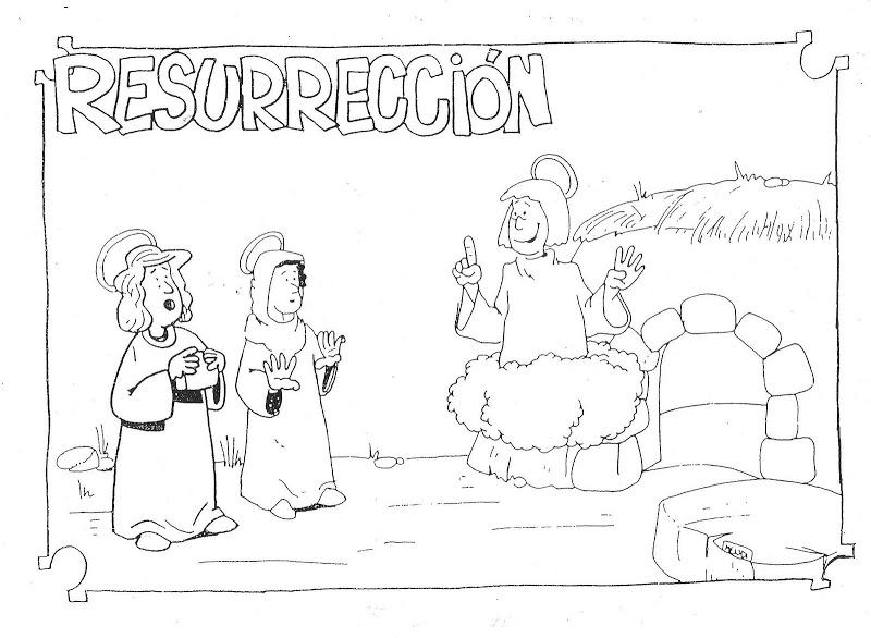 Dibujos para niños para colorear de la muerte y resurrección de ...