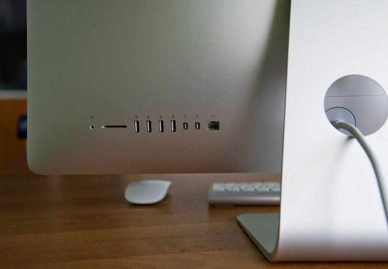 расположение портов на задней стороне iMac Retina 5K